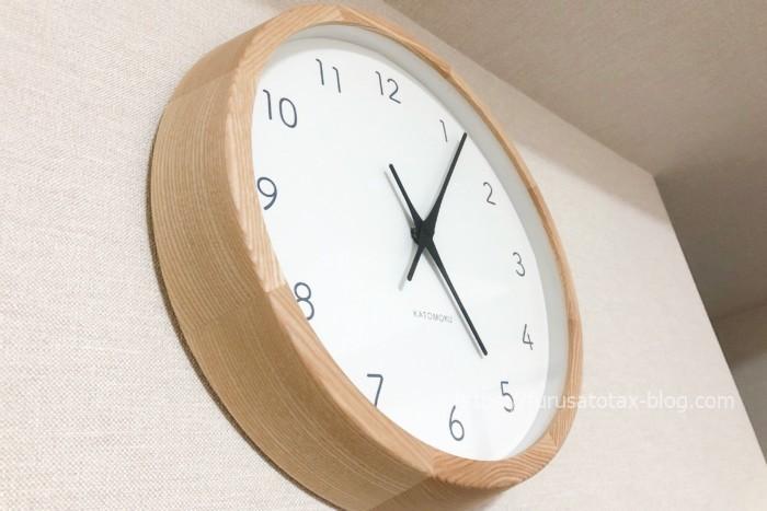 ふるさと納税 KATOMOKU 壁掛け時計